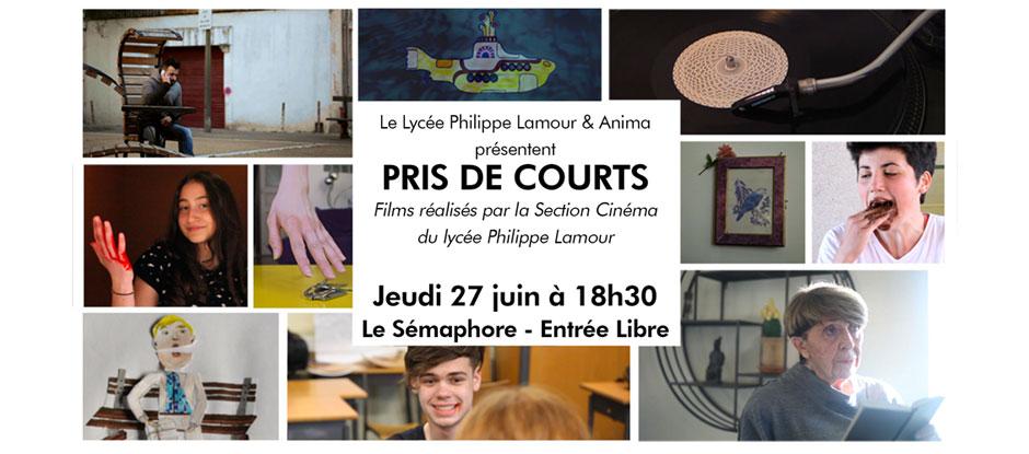 PRIS DE COURTS – Les films de la section Cinéma du lycée P. Lamour