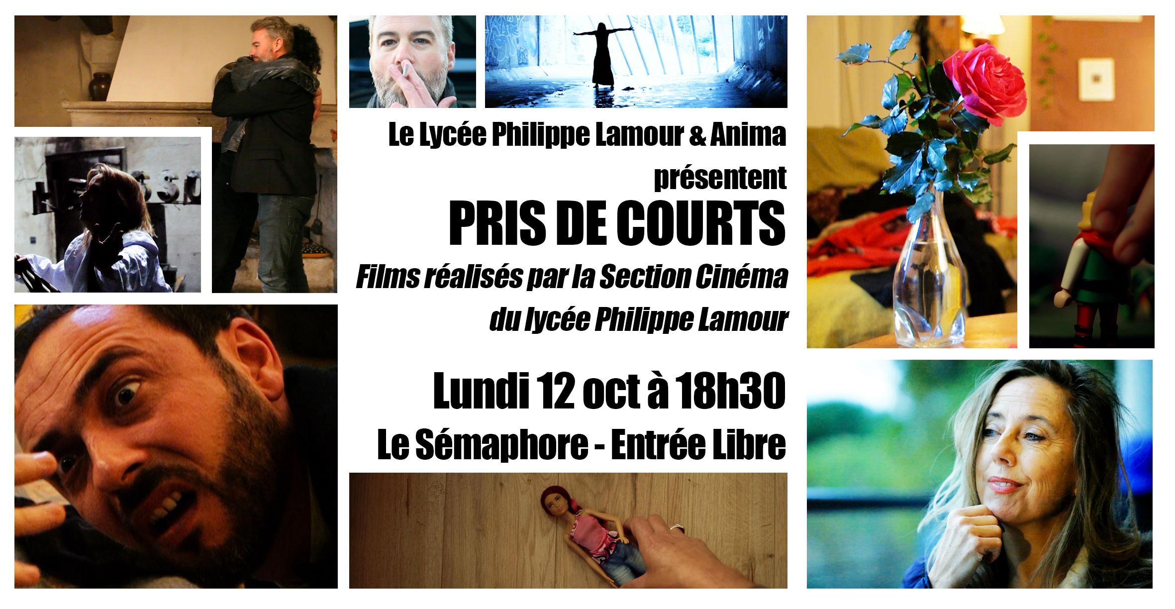 Pris de courts 2020 – Projection des films de la section cinéma du lycée Philippe Lamour